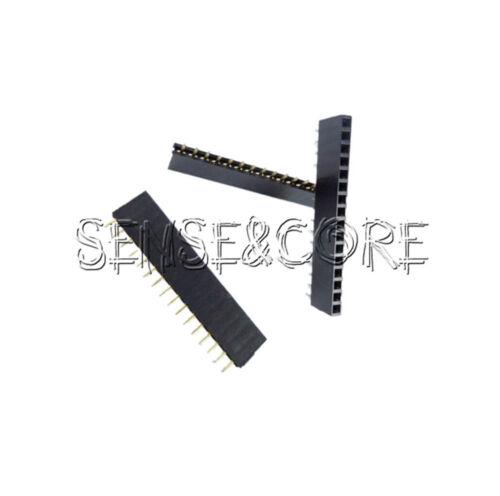 5//10//20//50//100Stks 16Pin Header 2.54mm Pitch Single Row Female Straight Strip