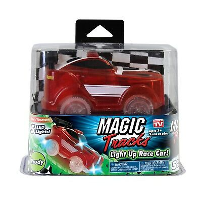 Magic Tracks Fast Speed RACE CAR with Flashing LED Lights, As Seen on TV! 1 PACK