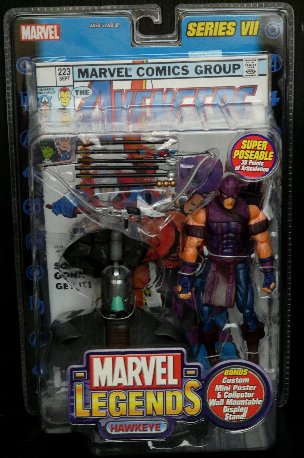 Marvel Legends Legends Legends Series VII (7)  nuevo  Hawkeye (avengers) Figura Rara  6