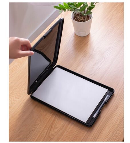A4 Klemmbrett Mappe Schreibunterlage Schreibplatte  mit Aufbewahrung