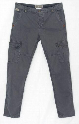 JAPAN RAGS Pantalon Cargo Treillis slim fit homme CRUZ gris Anthracite