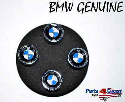NEW BMW  Logo Valve Stem Caps Covers Silver  Roundel Logo SET 436 11 0 421 544