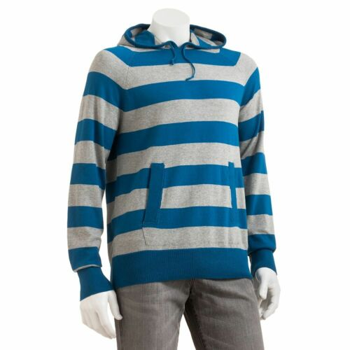 New SONOMA Men's Rugby Stripes Pullover Hoodie 5 Colors Size M To XXL MSRP $60