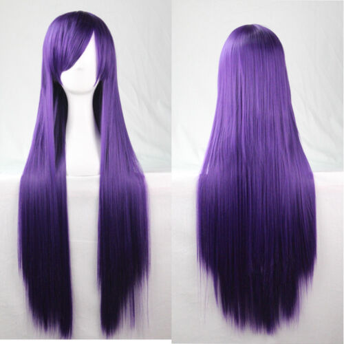 Women//Girls 80cm Long Straight Wigs Cosplay Anime Costume Hair Party Full Wigs