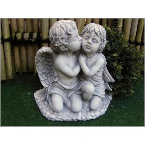 Steinfigur groß verschmustes Paar Engel und Elfe