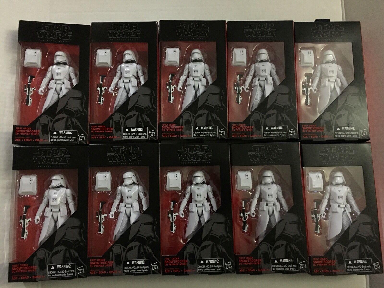 Punkt tio stjärna Wars svart serier Första Ordning Snowtrooper New
