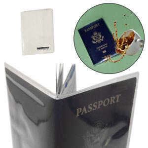 2 Travelon Passport Covers Clear PVC Plastic Document Holder Wallet Case