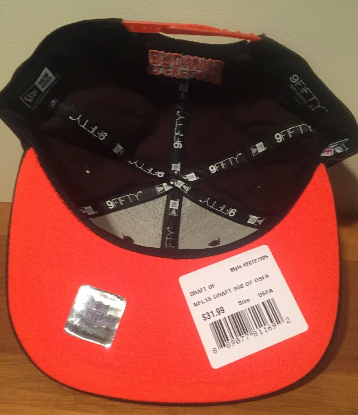Cleveland Browns Official NFL New Era 2015 2015 2015 Draft Mens Snapback 9FIFTY Cap Hat 185b6d