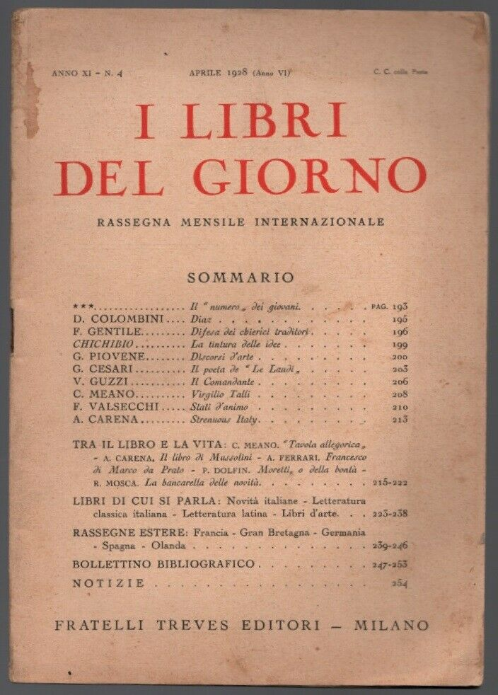 Orma n° 1 1920 - rivista