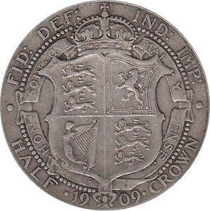 1902-To-1910-Edward-VII-Silver-Half-Crown-Choix-de-l-039-annee-date