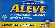 2 Pack - Aleve All Day Pain Relief & Fever Reducer - 50 Caplets Each