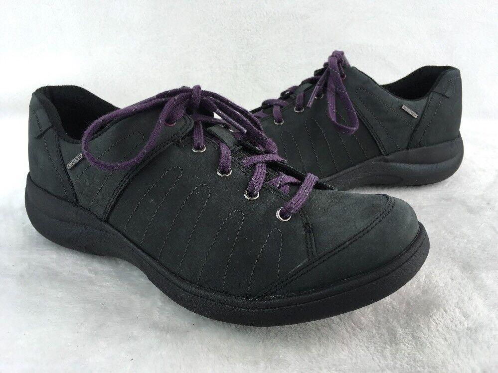 Aravon Revsavor Black LTHR Waterproof Walking shoes Size 7D  D1099