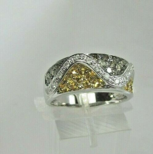 Estate 14K WG .41 CTW Diamond .42 CTW Spinel Ring