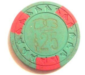 $25 DORADO BEACH Hotel Casino GREEN & RED Chip Puerto Rico HORSE KEY Mold DBE25c
