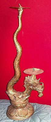 Candelabro Con Drago Vintage Bright In Colour