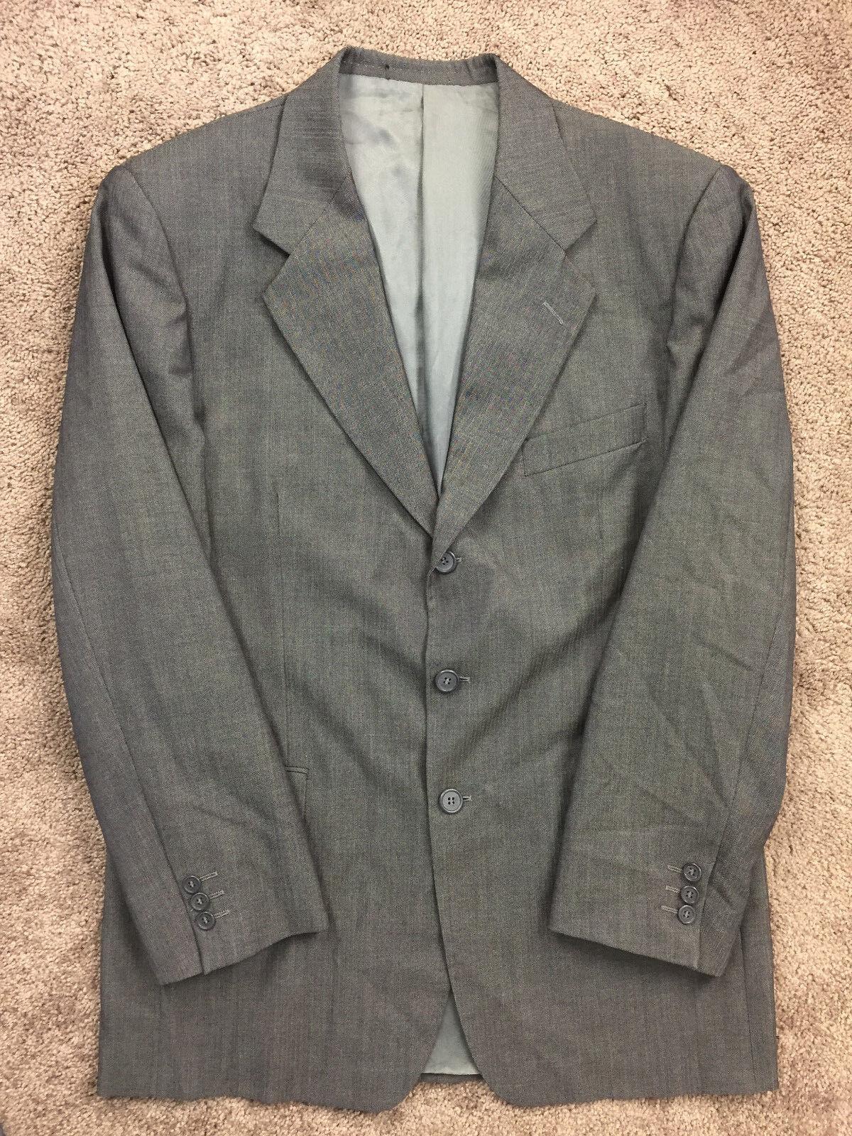 Emanuel Ungaro 100% wool 40 R Two Button Suit Excellent 35 waist