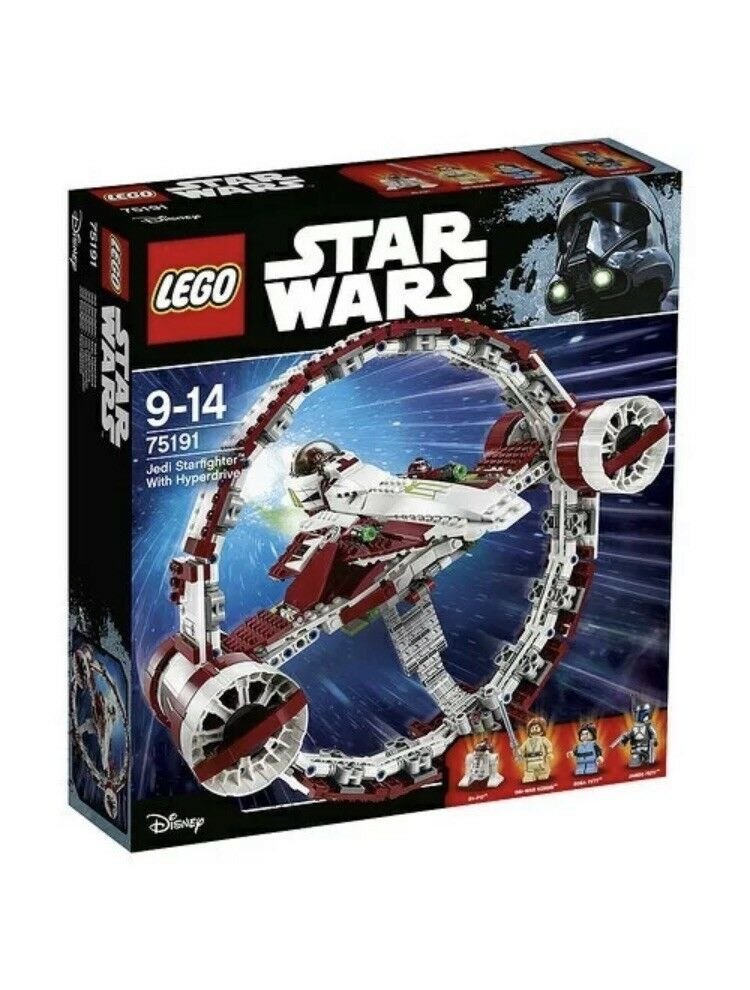 LEGO STAR WARS 75191 JEDI STARFIGHTER WITH HYPERDRIVE BRAND NEW NEW NEW 23b261
