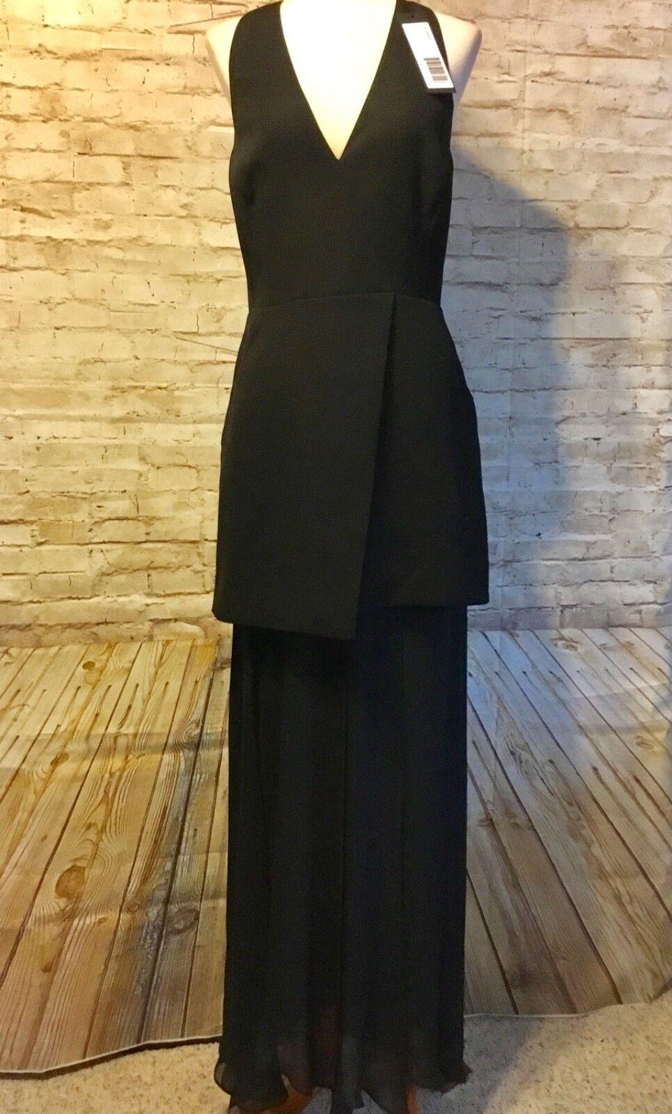 HALSTON HERITAGE schwarz Formal Maxi Dress Größe 10