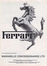 UK Ferrari Brochure - BB512 Berlinetta Boxer, 308 GTSi/GTBi, 400, Mondial - 1981