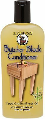 Howard Products BBC012 Food Grade Butcher Block Conditioner 12oz Protect Repair