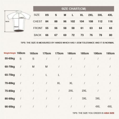Men/'s Summer Short Sleeve Cycling Jersey Bike Riding Tops Shirt Outfits Clothing