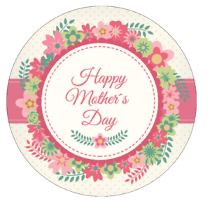 happy mothers day cake topper edible 7 5 wafer paper cake toppers ebay. Black Bedroom Furniture Sets. Home Design Ideas