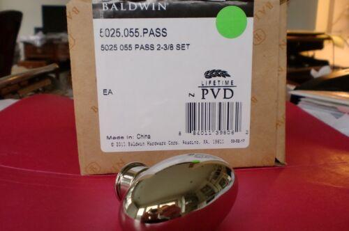 Baldwin 5025.055.PASS Solid Brass Door Knob Lifetime Polished Nickel New