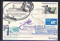58644) LH FF Frankfurt - Vancouver 15.6.96 card feeder mail Israel SP Haifa 1