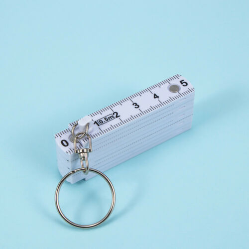 Portable 50cm  Key Chains Key Ring Key Finder Ruler Tape Fold Folding Plastic f