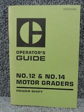 Oem Caterpillar Cat No12 No14 Motor Grader Power Shift Operators Guide Manual