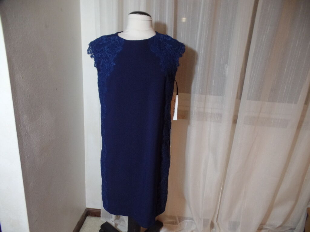 MAGGY LONDON BEAUTIFUL blueE DRESS EMBELLISHED WITH LACE NWT SZ 12 FROM NORDSTROM