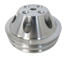 Sb Chevy Water Pump Pulley Short Snout Aluminum 2 Grooves Swp Sbc 350 383 400