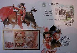 Banknotenbrief-Bank-Notenbrief-Numisbrief-Geldscheinbrief-Spanien-XXL-Grossbrief