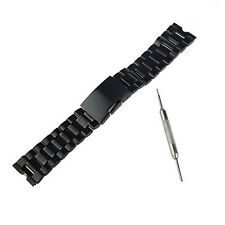 Black Stainless Steel Metal Watch Band Strap For Samsung Galaxy Gear S3 Frontier