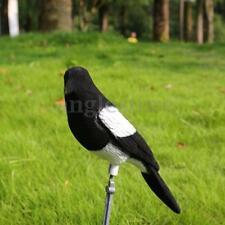 Flocked Decoy Crow Magpie Bird Bait Hunting Trap Shooting Target Hunting Tool US