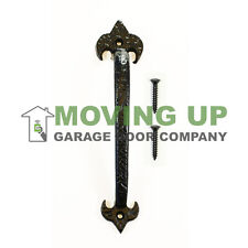 "Garage Door Decorative LIS Pull Handle 10"" Cast Iron + Hardware"