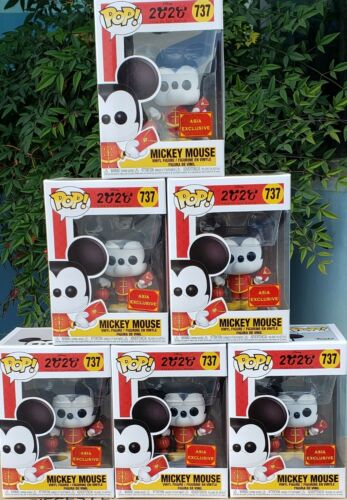 2020 Funko Pop Asia Mickey Mouse Chinese New Year In Stock w// .5mm protect MINT