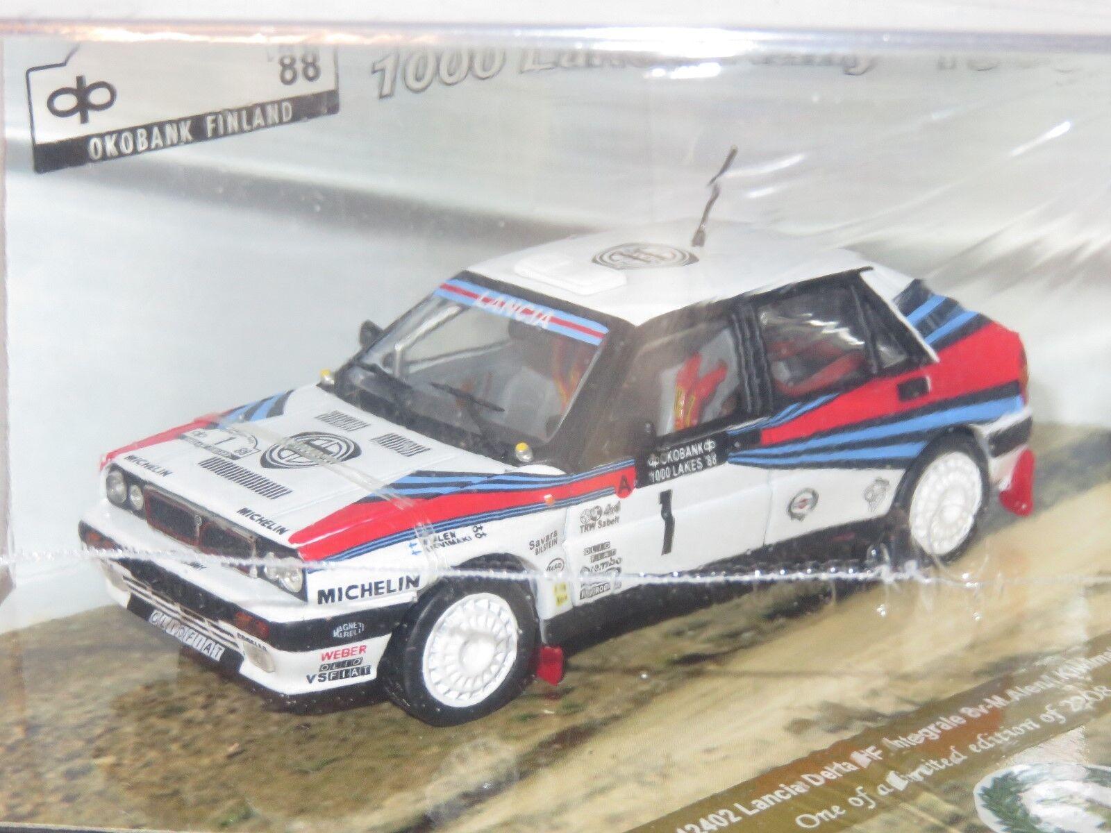 1 43 43 43 Lancia Delta Integrale 8V Martini Rally 1000 Lagos Finlandia 1988 M. Alen 60da82