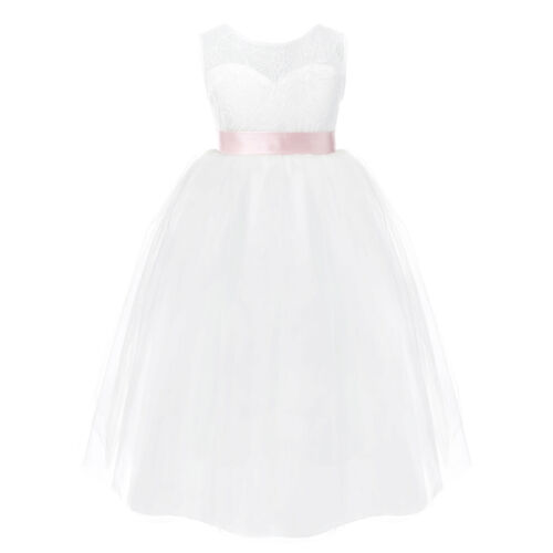 Flower Girl Princess Dress Kids Party Wedding Bridesmaid Lace Tutu Formal Dress