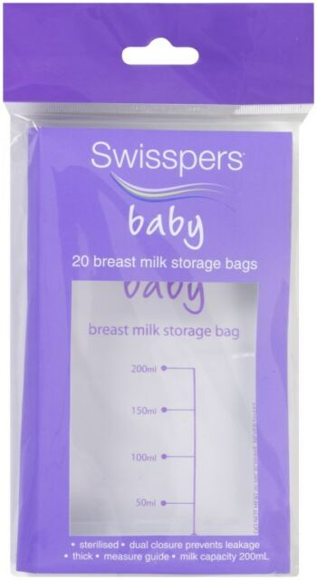 Swisspers Baby Breast Milk Storage Bags X 20