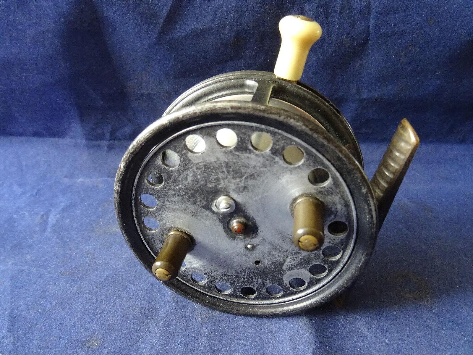 Un ottimo vintage Hardy SILEX Major 3 12 CASTING Centrepin SPINNING REEL