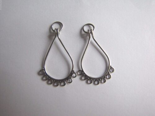 2 X BALI 925 Sterling Silver Chandelier Earring Findings Connectors 25mm