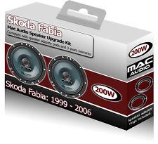 Skoda Fabia Front Door speakers Mac Audio car speaker kit 200W + adapter pods