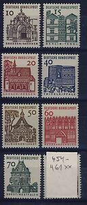BUND-Nr-454-461-postfrisch-Deutsche-Bauwerke-DS-Lorsch-Tegel-Zwinger-1964