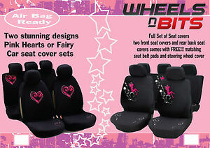 Image Is Loading WNB Hearts And Fairy Seat Covers Full Set
