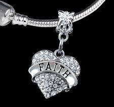 Faith Charm  Faithful charm Religious charm Fits European Bracelet (charm only)