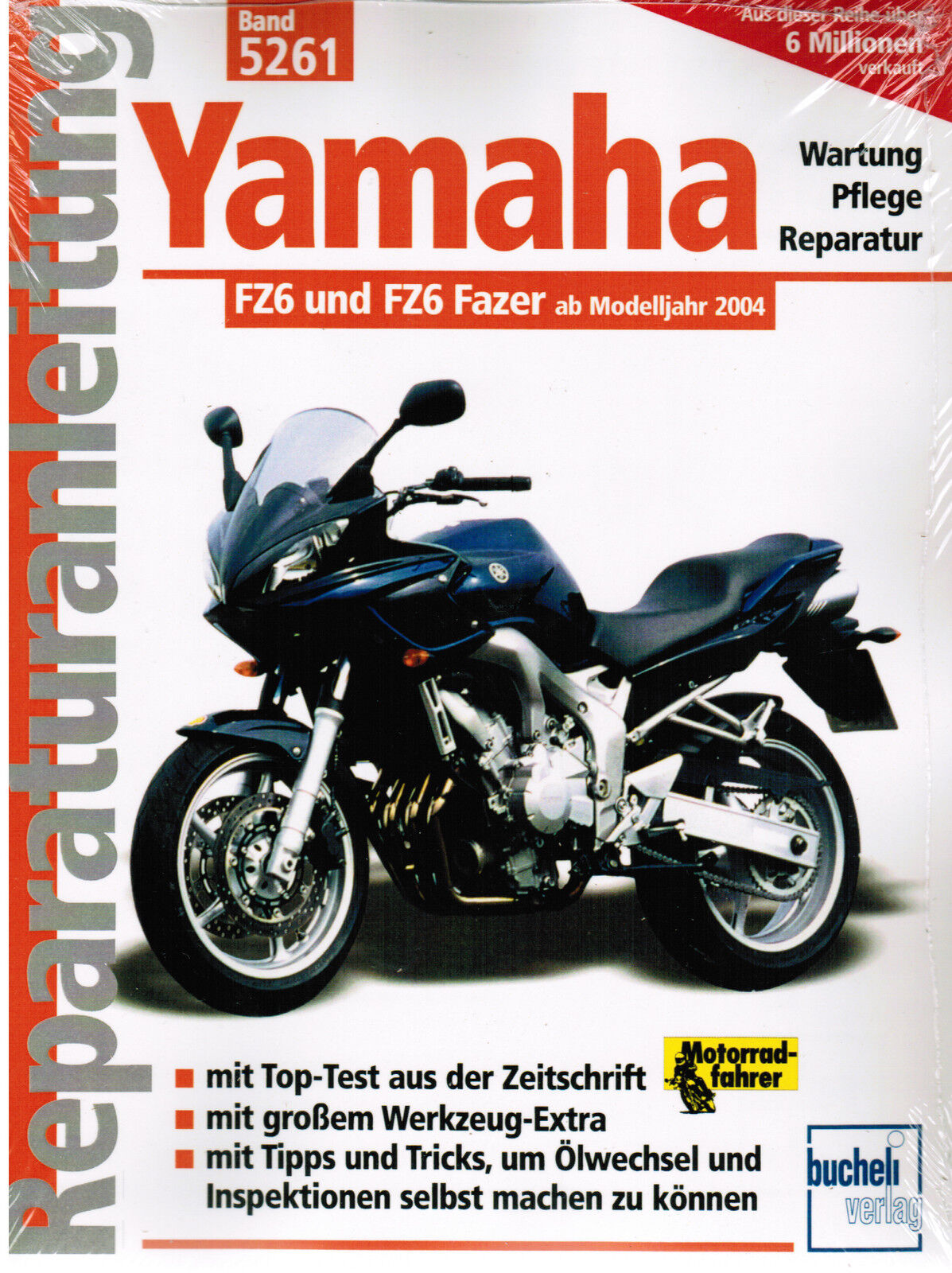 Book Repair Manual Yamaha Fz6 and FZ 6 Fazer From Model Year 2004 Band 5261  | eBay