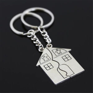 1 Pair Couple Gift Romantic House Keychain Personalized Souvenirs Lanyard