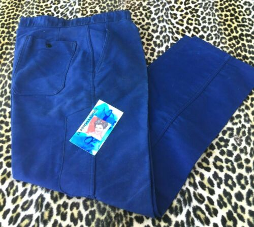 FRENCH A.LAFONT 1960s WORKWEAR CHORE PANTS~BLUE MO