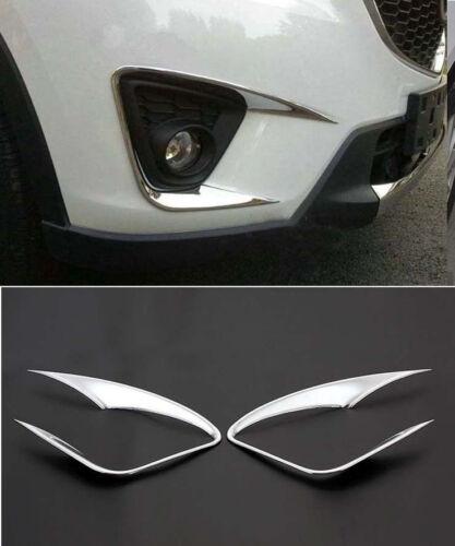 ABS Chrome Front Fog Light Lamp Cover Trim For 2012-2016 Mazda CX-5 CX5 Light